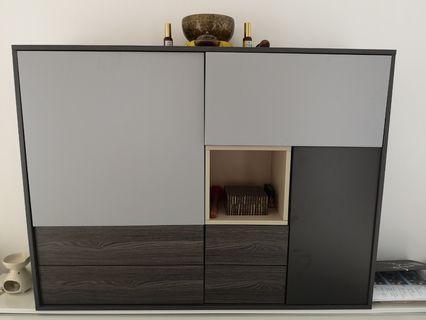 wood grey cabinet 木灰色衣櫃
