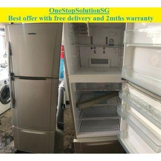 Toshiba (310L) 3doors fridge / refrigerator ($270 + free delivery and 2mths warranty)
