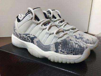 US5.5 Air Jordan 11 Low Snakeskin Light Bone