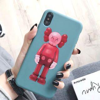 KAWS 暴力熊藍色全包手機殼軟殼 Apple iPhone case