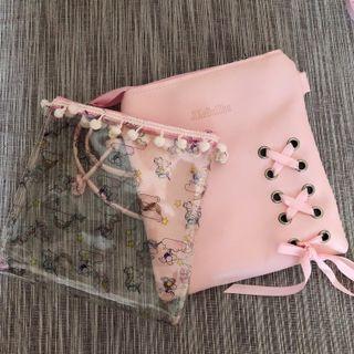 Transparent Unicorn / Pink Crossbody/Pouch/Bag