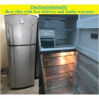 Toshiba (420L) 2doors Big fridge / refrigerator with Auto Ice maker ($280 + free delivery and 2mths warranty)