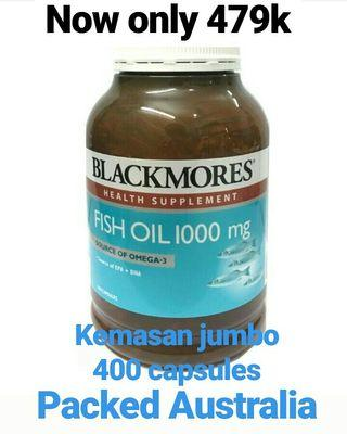 Blackmores 400 capsules fish oil 1000 omega 3
