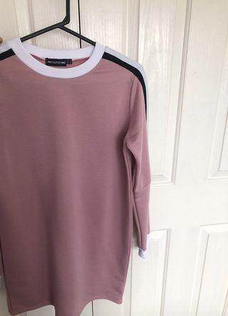 prettylittlething jumper dress