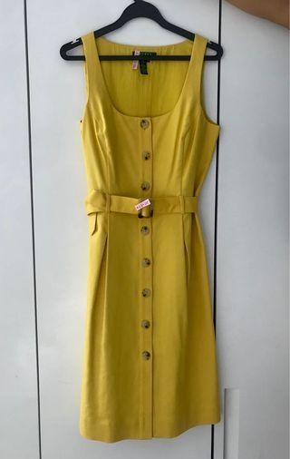 Ralph Lauren Rare Vintage Yellow Dress