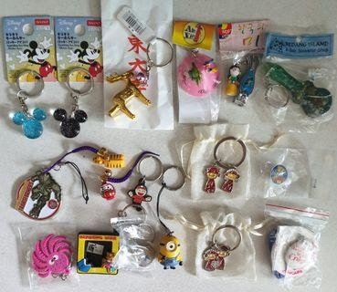 🚚 New.Top row from Japan, Korea, Vietnam , Redang island. Keychain From $0.50. Great for gift too 👍