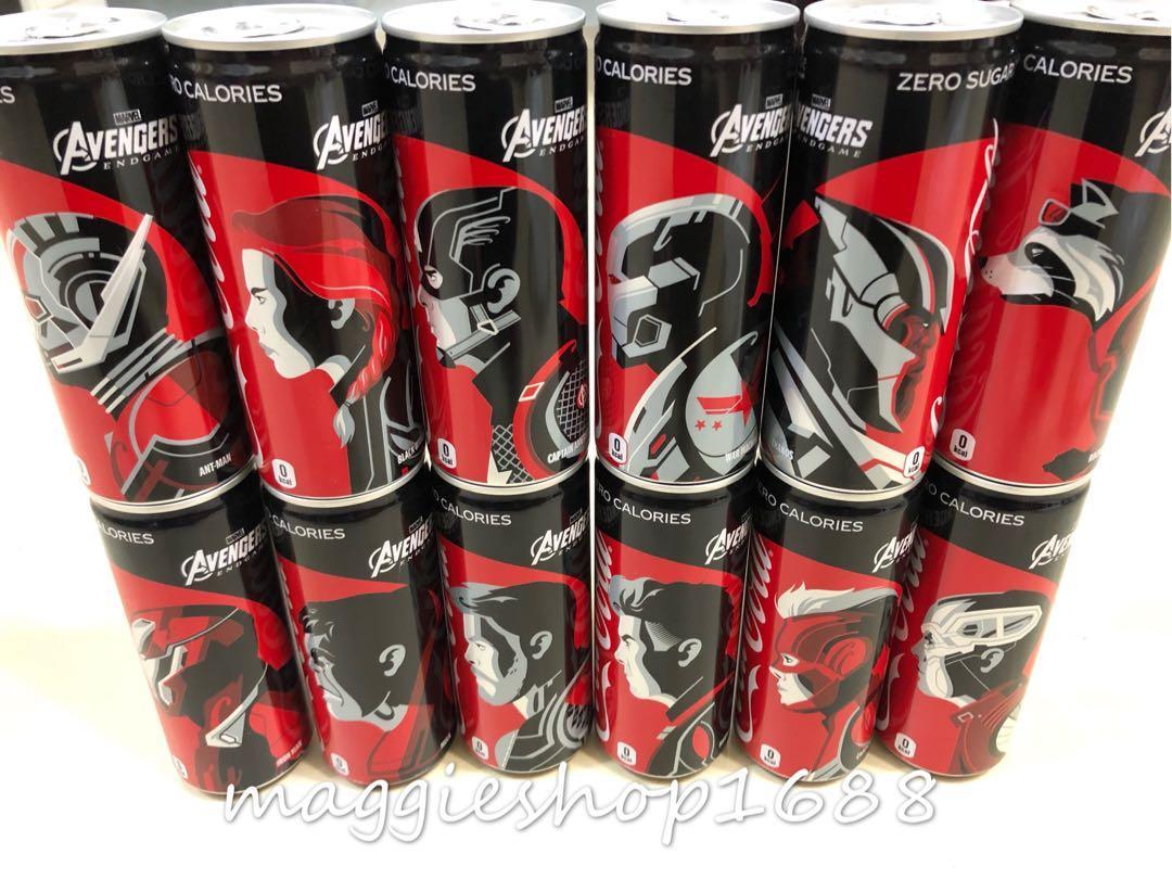現貨🔥一套12款*日版零系可樂Coca Cola x Marvel復仇者聯盟終極之戰