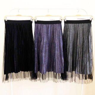 Sky Pleated Skirt