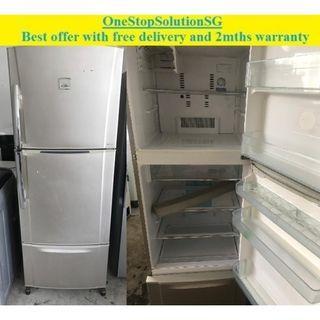 Toshiba (450L) 3 doors big refrigerator / fridge ($300 + free delivery & 2mths warranty)