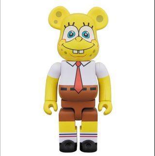 Bearbrick 1000% 海綿寶寶 SpongeBob Bear Be@rbrick Toy Figure Art Design Rabbrick R@bbrick Nyabrick Ny@brick 模型 擺設 收藏品 玩具 禮物 生日禮物