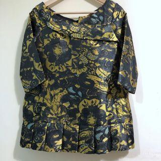 Mimpikita Brocade Tunic Top in Yellow
