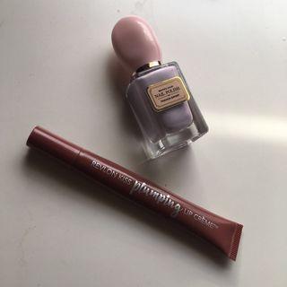 Revlon plumping lip crème #515 & Nail polish (purple)