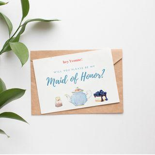 Bridesmaid Proposal cards! Tea Party series