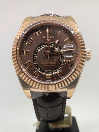 🚚 ROLEX SKY DWELLER ROSE GOLD