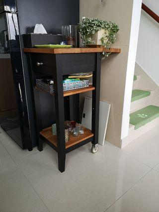 kitchen wheel table 廚房有輪小工作檯
