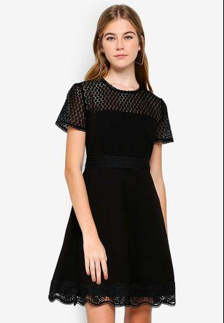 👗(BNWT) Forever New Darcey Lace Double Tier Ponte Dress