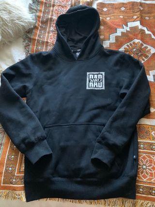 Black rad oversized snow hoodie