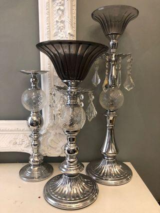 水晶蠟燭台