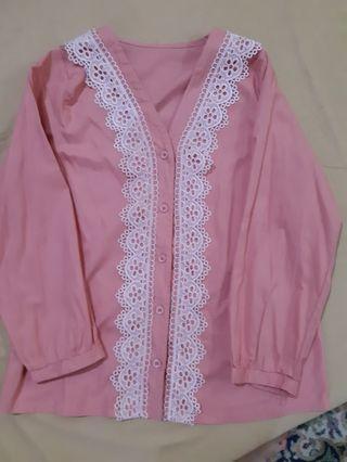 Atasan pink semi abaya