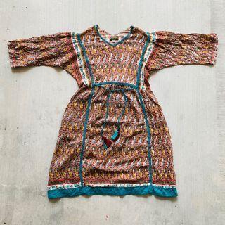 🇮🇳 Vintage Macrame Dress 古著 古着 流蘇 民族 連身裙