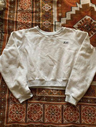 Grey crop jumper