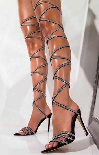 Shopakira Rhinestone Heels