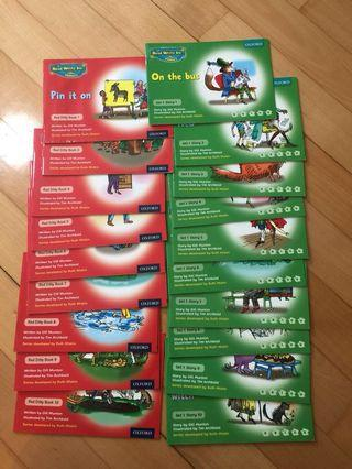 RWI phonics story books, work books, writing books