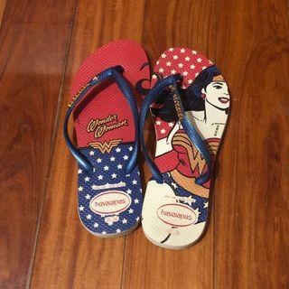 Havaianas 哈瓦士 巴西品牌 DC 神力女超人 鐵牌 人字拖鞋 夾腳拖鞋 二手