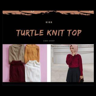 Turtle knit top