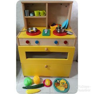 FREE POST Big Wooden Kitchen Playset