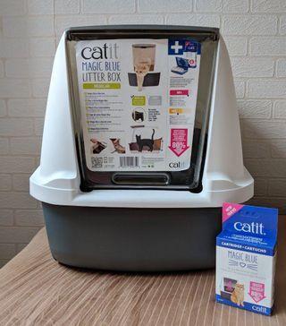 Instock | Hagen Catit Magic Blue Regular Litter Box
