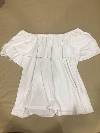 White Off Shoulder Top ( Uniqlo)
