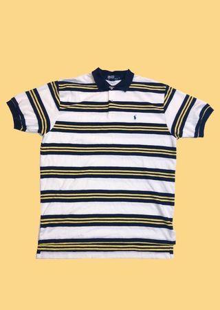🚚 POLO 黃藍橫紋