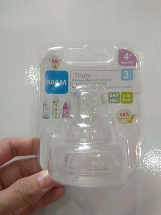 🚚 MAM 4+ months silicone teats (2pc)