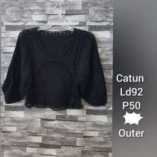 Black embroidery top