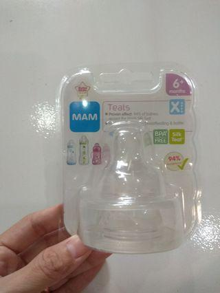 🚚 MAM 6+ months silicone teat (2pc)
