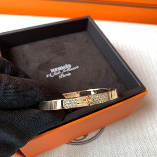 Hermes 新款Tiffany 綠鑽 玫瑰金手鐲Bracelet SH size