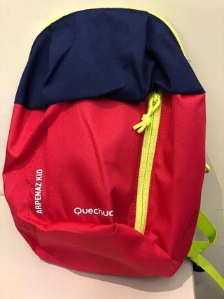 <new> Kids Backpack小童背包,紫拼深粉紅 (size: 32 x 22 x 10)cm