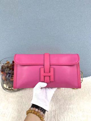 Hermes ClutchBag29 Rose Tyrien(E5)  Swift leather & Chevre skinO stamp.with dust bag