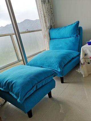 Sky Blue sofa 天藍色單人梳化