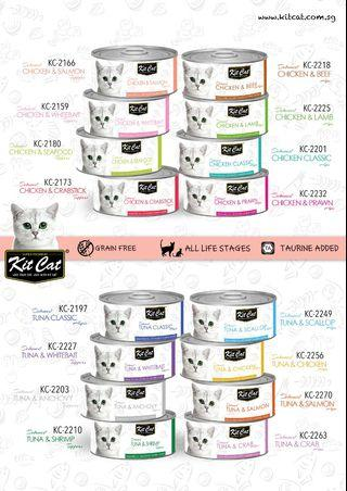 Kit Cat Topper & Mousse Series Cat Canned Food 80grams