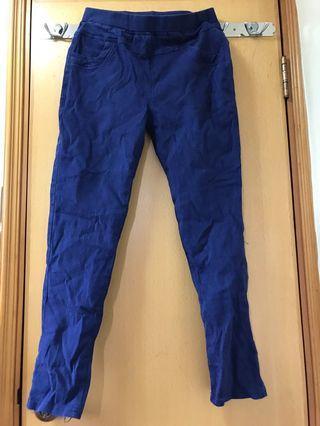 紫藍色貼身長褲