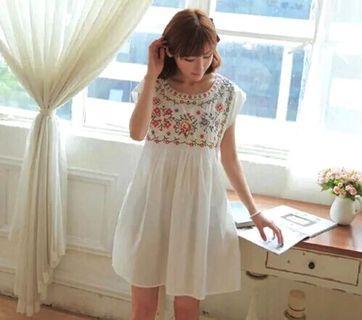 [BN] Mathilda Embroidery Babydoll Dress