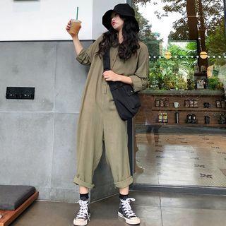 CD2358 (全新) 女裝 寬鬆褲子工裝連體褲褲闊腿褲潮