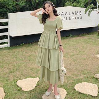 CD2361 (全新) 女裝 短袖連衣裙很仙 法國小眾A字裙 甜美裙子潮