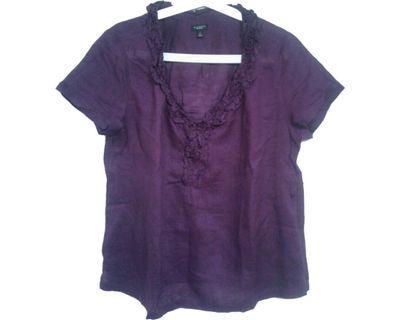 #mauvivo Talbots - Purple Top (Big Size)
