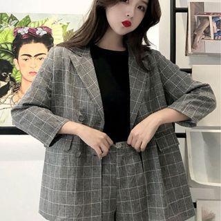 CD2367 (全新) 女裝 套裝薄 西裝外套+高腰短褲洋氣 很仙 兩件套潮