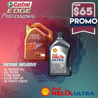 Castrol Edge/Shell Helix Servicing Package