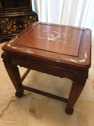 Chinese vintage mother of pearl side table