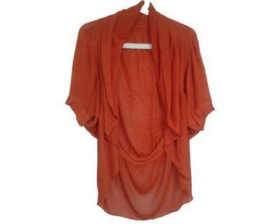 #mauvivo No Brand - Orange Knit Bolero (Big Size)